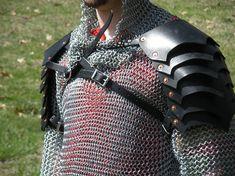 Triple Pointed Spaulders Pair SCA LARP Lord of the Rings Dagorhir Armor Leather Armor. $69.95, via Etsy.