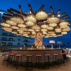Bar Design Restaurant Lounge 15 is part of Of The Worlds Best Restaurant And Bar Interior Designs - Bar Design Restaurant Lounge 15 Lounge Design, Bar Lounge, Cafe Design, Beach Design, Store Design, Outdoor Restaurant Design, Rooftop Restaurant, Rooftop Bar, Rooftop Lounge