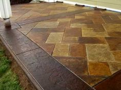 stained concrete patios | Amazingly real Stamped and Acid stained concrete patio