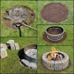 5 Simple and Crazy Ideas: Fire Pit Furniture Tutorials flagstone fire pit design., seating ideas backyard fire pits 5 Simple and Crazy Ideas: Fire Pit Furniture Tutorials flagstone fire pit design. Garden Fire Pit, Fire Pit Backyard, Backyard Patio, Backyard Landscaping, Backyard Fireplace, Patio Fire Pits, Outdoor Fire Pits, Diy Landscaping Ideas, Inexpensive Landscaping