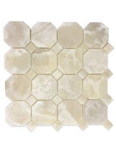White Onyx 3 X Octagon Polished Mosaic Tile