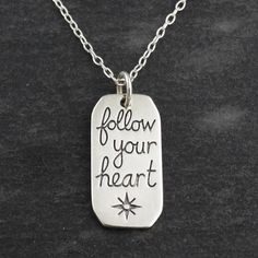 Follow Your Heart Pendant Necklace - 925 Sterling Silver
