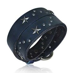 Bling Jewelry Patriotic Stainless Steel Star Leather Wrap Bracelet >>> You can find more details at http://www.amazon.com/gp/product/B005LOJQX2/?tag=finejewelry4u.com-20&pcd=170716021811