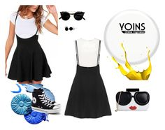 """"""":)))"""" by sarahguo ❤ liked on Polyvore featuring Finders Keepers, Converse, Alice + Olivia and Bling Jewelry"""