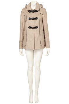 Topshop Hooded Coat