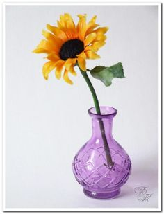 Sunflower from polymer clay