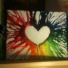 My second melted crayon art!