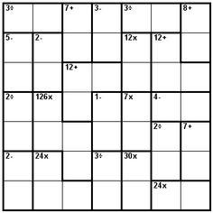 Number Logic Puzzles: 24070 - Kenken size 7