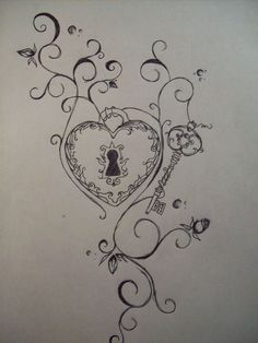 Pin Lock And Key Sugar Skull Tattoo Tattoos Kanji0001 Related Posts ..... Cool tattoo for Valerie