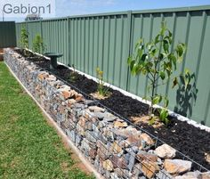 gabion planter wall 2ft tall x 1ft thick with the lids left off. http://www.gabion1.com