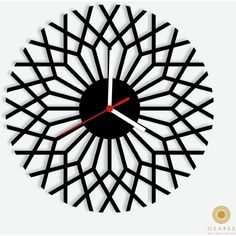 Optical Illusions Geometric Wall Clock ($60) ❤ liked on Polyvore featuring home, home decor, clocks and geometric home decor