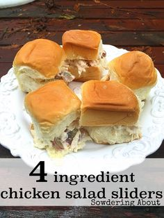 Sowdering About: Simple Chicken Salad Sandwiches