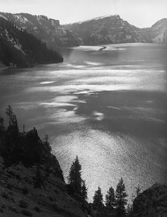 Ansel Adams: National Parks Afternoon Sun, Crater Lake National Park, OR 1943