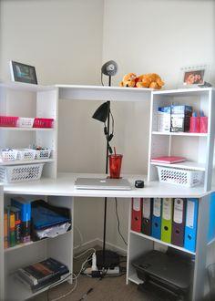 A budget friendly organized desk