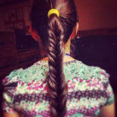 A quick braid.