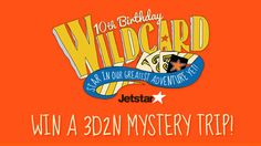 You too could star in Jetstar's greatest adventure! Find out more at www.jetstar.com/sg/en/wildcard!