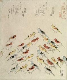 Totoya Hokkei: PILGRIMAGING TO ENOSHIMA, Toy Sea Gulls at Samesu, Edo period.