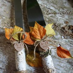 Personalized Rustic Fall Wedding Cake Server Set Knife Rustic Outdoor Holidays Barnyard Fall Wedding   This item for: 1 Cake server,1 Knife. These would make a wonderful gift for your favorite person. Perfect for Fall Wedding or Bridal Shower Gift.  I can do custom orders too if you like of another design or color, just let me know. I will try my best to get what you need.  Also, here you can order a matching Wedding Champagne Flutes…