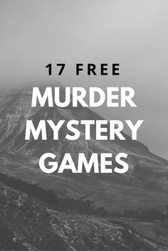 Universal image for free printable mystery games