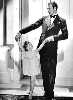 Shirley Temple and Gary Cooper in Now and Forever, 1934.