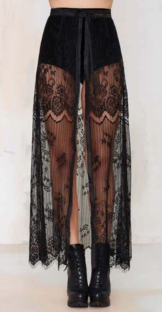 Kiss Them for Me Lace Tie Skirt - Skirts