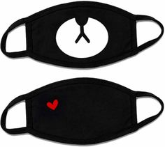 Best mouth mask black : These are really cute, super soft, and comfortable surgical masks virus protection. I got them to cover my mouth after oral surgery. Neoprene Face Mask, Glamour Shop, Flu Prevention, Crochet Mask, Protective Mask, Mouth Mask, Mask For Kids, Neck Warmer, Black Cotton