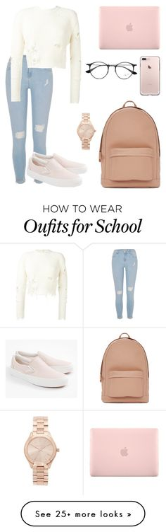 Day at school  by gabrielle-kamielle on Polyvore featuring River Island, adidas Originals, Vans, PB 0110, Incase, Ray-Ban and Michael Kors