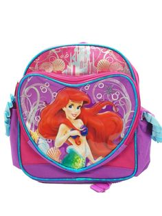 1 X Mini Size Pink and Purple Little Mermaid Backpack - Kids Sized Ariel Backpack *** Be sure to check out this awesome product. (This is an Amazon Affiliate link and I receive a commission for the sales)
