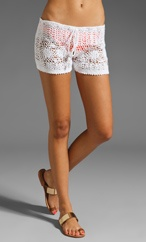 crochet or lace shorts.. cute coverup. Swimwear - Summer/Fall 2012 Collection - Free Shipping!