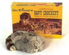 1955 Official Disney Davy Crockett Coonskin Cap