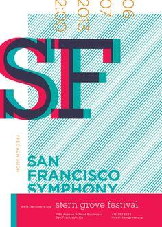 San Francisco Symphony: Stern Grove Festival by Hugo Ugaz, via Behance