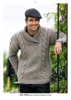 110970 06 pt 106 voksen 1 s is part of Mens shawl collar sweater Issuu is a digital publishing platform that makes it simple to publish magazines, catalogs, newspapers, books, and more online Easil - Mens Shawl Collar Sweater, Mens Knit Sweater, Hand Knitted Sweaters, Knitted Shawls, Jumper Knitting Pattern, Baby Knitting, Handgestrickte Pullover, Outfits Casual, Men Casual