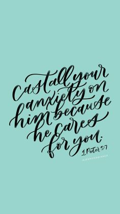 Putting heartfelt words onto paper with handlettering and calligraphy. Inspirational Quotes About Success, Uplifting Quotes, Motivational Quotes, Bible Verses Quotes, Faith Quotes, Scriptures, Cast All Your Cares, 1 Peter 5, Building Quotes