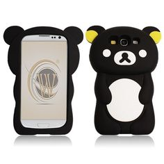 Choose a Samsung Galaxy #S3 #i9300 Black Bear (NEW) #Silicone Gel Cover Case with Free Shipping in The U.S.A and Canada from #Acetag