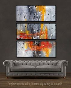"'Fire Storm' - 36"" X 30"" Original Abstract Art Painting."