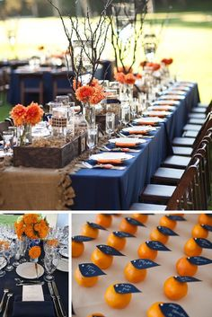 Navy and Tangerine - adorbs. 5 Baby Shower Color Schemes For Summer – Mix and Bash