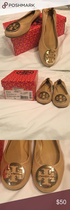 Tory Burch iced coffee reva ballet flats, size 9 Tory Burch Reva Ballet  flats in