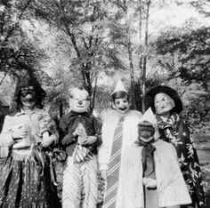 Not a lovely memory really. Those black lace masks scratched the crap out of your face! The clown one is just plain scary.