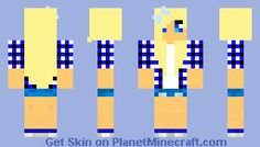 Minecraft Girl Skin. It looks kinda country and casual.. I like it.