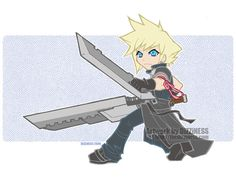 Advent Chibi: Cloud by dizziness