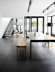 House Tour: Open-plan design and statement furniture in this semi-detached house - Home & Decor Singapore Semi Detached, Detached House, Oak Dining Table, White Houses, Plan Design, Image House, Open Plan, Scandinavian Design, My Dream Home