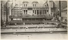The famous Sutro Baths in San Francisco opened to the public on March 14, 1896.  Sutro Baths, an indoor swimming complex, which included a museum and a concert hall, was developed by Adolph Sutro to provide a recreational swimming facility for the residents of San Francisco. (ca. 1900)