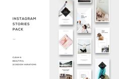 Instagram Stories Pack on @creativemarket. Digital design goods for personal or commercial projects. Graphic design elements and resources.