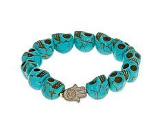 Skull Bracelet - Turquoise