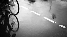 En sykkel reflekteres i en våt gate - «Har jeg råd til å prioritere sykkel?» spør Norge seg kanskje. «Har du råd til å la være», svarer Lasse Schelde. - Foto: Tobias Gaulke (CC BY-NC-ND 2.0) /
