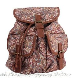 Brand New Top Quality Trendy Womens Floral Vintage Backpack