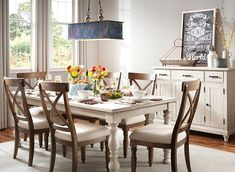 Love this Spring look? Tap to shop! 7 Piece Dining Set, Dining Room Sets, Round Dining, Dining Table, Riverside Furniture, Modern Country, Country Casual, Kitchen Redo, Kitchen Ideas