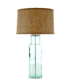 Green glass lamp - Horchow $295.00