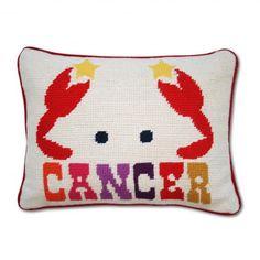 Cancer Zodiac needlepoint Pillow