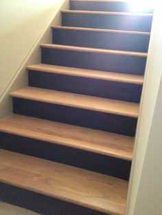 Paint your risers on the stairs to allow scuff marks from shoes,etc!